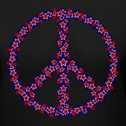 Black Patriotic Peace Sign Women's T-shirts