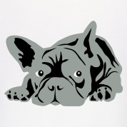 White French Bulldog Hoodies