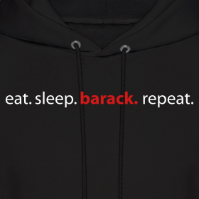 Design ~ eat. sleep. barack. repeat. adult hooded sweatshirt