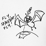 Design ~ Fly Space Bat Fly Mens Tee (Light)