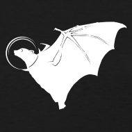 Design ~ Space Bat Helmet Ladies Tee (Dark)