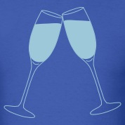 Royal blue Champagne Glass Toast T-Shirts