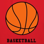 Red Basketball. Make your own Design Hooded Sweatshirts