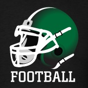 Black green football helmet T-Shirts