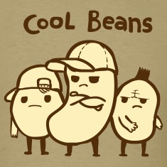 Khaki Cool Beans T-Shirts