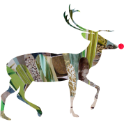 collage art REINDEER