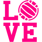 Volleyball Love Design