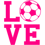Love Soccer Girls Design