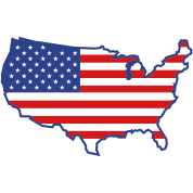 Flag USA Map