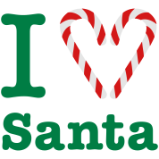 I Heart Santa (for dark)