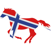 Norway Flag Horse