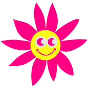smiling sunflower with face