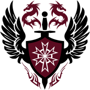 warrior shield and dragon crest