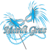 Blue Mardi Gras Mask