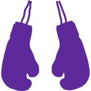 purple boxing gloves