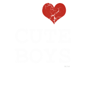 i love cute boys vintage white by wam