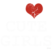 i love cute girls vintage white by wam