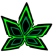 Cannabis Marijuana Leaf #2 (3colors)