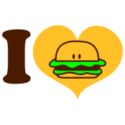i heart hamburger