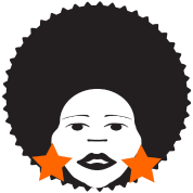 afro woman orange