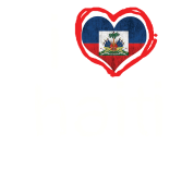 I HEART HAITI kids text (white text on transparent background)