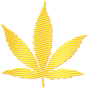 Cannabis Leaf (stripes, 2colors)