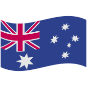 australian flag in a wave shape