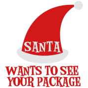 SANTA WANTS TO SEE YOUR PACKAGE Christmas design