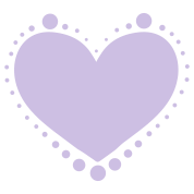 pretty heart with dotty dotties
