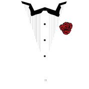 TUXEDO with Red Rose