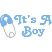 It's A Boy Blue Baby Announcement