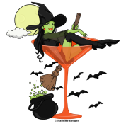 Halloween Martini Girl by Halftime Designs