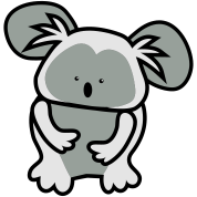 simple cute koala bear