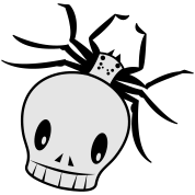 a funky skull spider creepy!