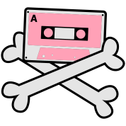 cassette tape crossbones cool 80's