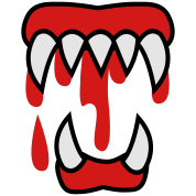 bloody monster teeth