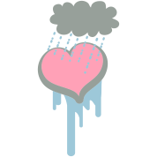 heart under a raincloud depression?