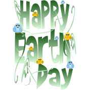 Happy Earth Day with Birds