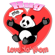 hug me panda love ya mom