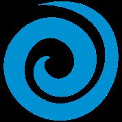 a swirl curl spiral