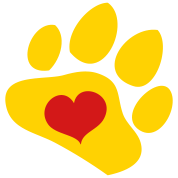 WILDLIFE lover paw with love heart