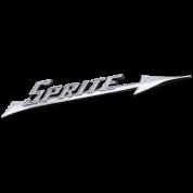 Austin-Healey Sprite silver script emblem - AUTONAUT.com