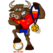 Spain's Soccer World Cup Champion Bull