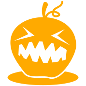 HALLOWEEN neon pumpkin head creepy