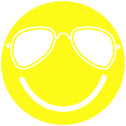 FUNKY cool smiley with aviator glasses