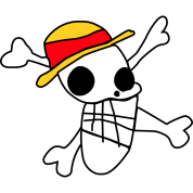 luffy's flag drawing