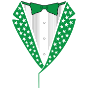 Star Tuxedo in Green PNG