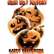 Mean and Rotten Halloween Pumpkins