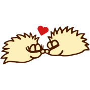 hedgehogs in love