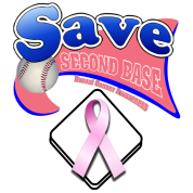 Save Second Base Plate Pink Ribbon